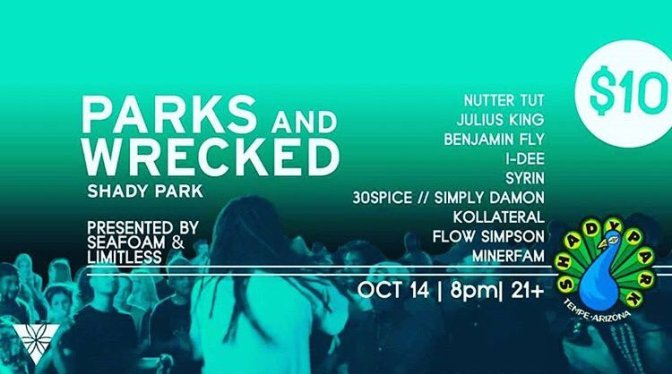 "TONIGHT: ""Parks & Wrecked"" at Shady Park"