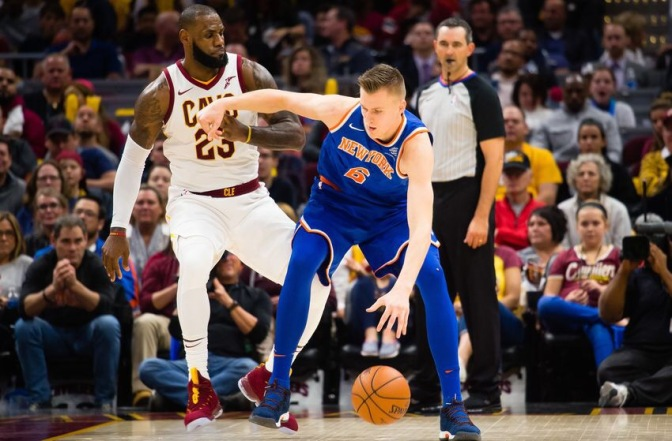 Cavaliers Roar back from down 23 to defeat Knicks 104-101; LeBron & Enes Kanter SQUARE UP